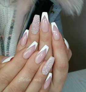 List : 20 Luxury Coffin French Tips Nail Designs