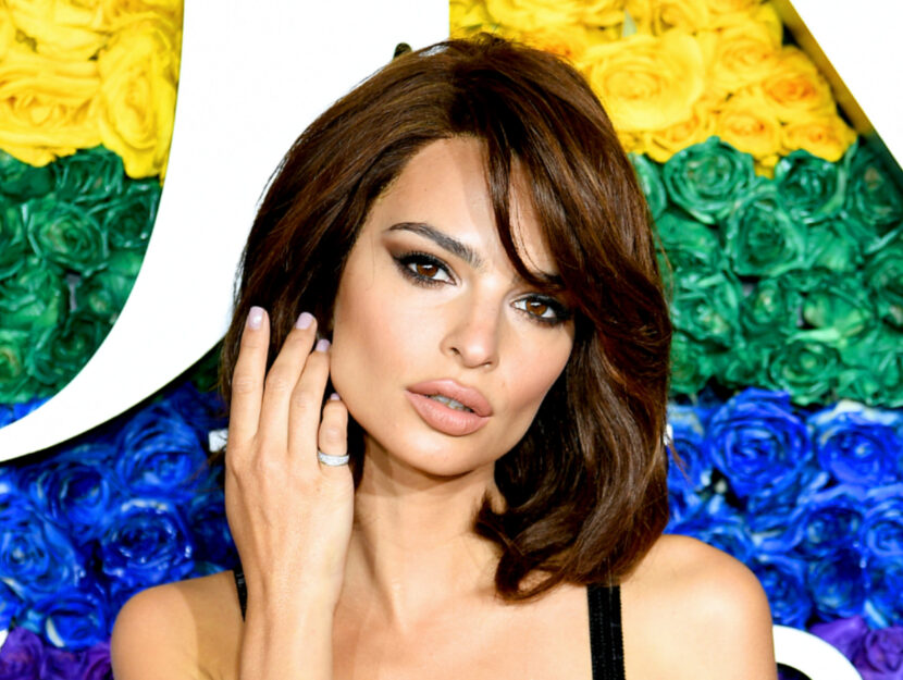 Emily Ratajkowski is a deep fall that keeps her base dark brown, warming it up