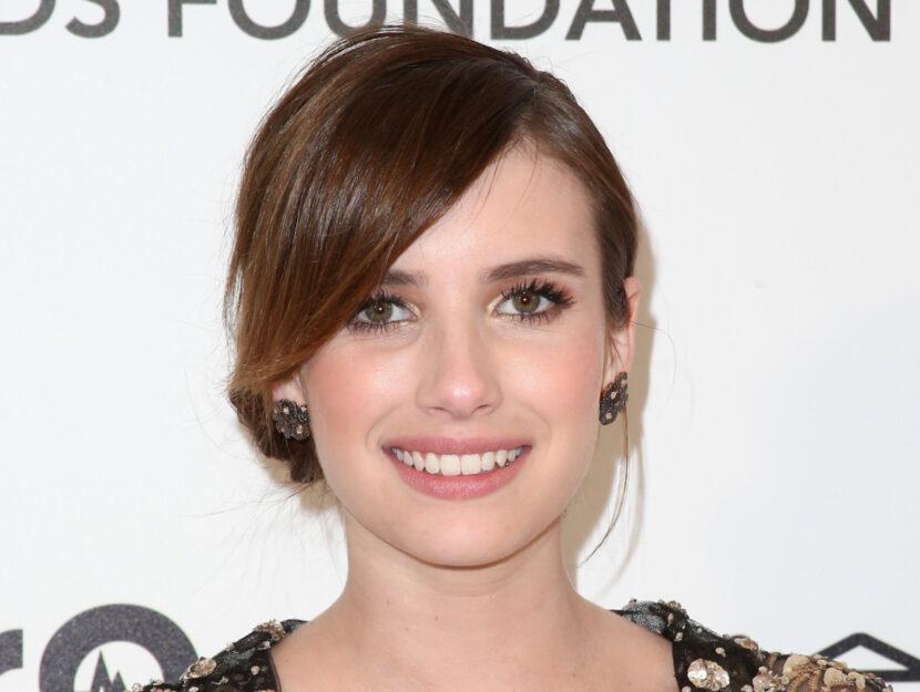 Emma Roberts, soft summer, is enhanced with a soft medium golden brown