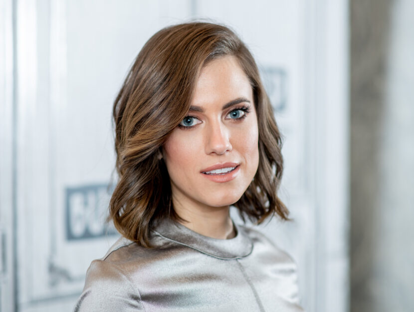 Allison Williams, cold summer, wears a light ash brown which makes her very sophisticated and acc