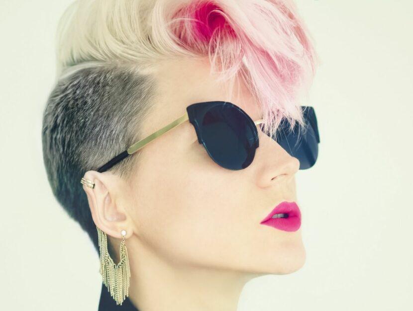 Girl with rock haircut